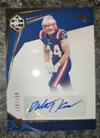 2020 Panini Limited Rookie RC Dalton Keene Auto /199 New England Patriots