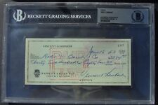 VINCE LOMBARDI  SIGNED CHECK BAS SLABBED AUTOGRAPHED 26