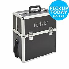 With Defect Technic Black Cosmetics Organiser Empty Large Case Make up Vanity
