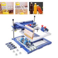 Qmh170 Simple Curved Screen Printing Machine A Grade Bottle Mug Screen Printer