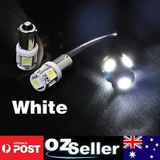 6pcs BA9S 5SMD 5050 T4W LED Car Dash Parker Bulb Dome Roof Light Super White
