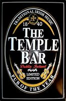 The Temple Bar Logo Blechschild Schild 3D geprägt gewölbt Tin Sign 20 x 30 cm