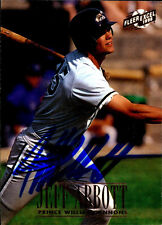 Jeff Abbott- 96 Fleer- Signed Autographed Card-Prince William Cannons