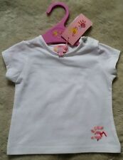 Molly & Jack Baby Girl White Basic 'With Love' T Shirt 12 Month