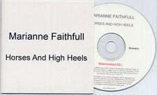 MARIANNE FAITHFULL Horses & High Heels French numbered promo test CD