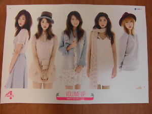 4MINUTE - Volume Up [OFFICIAL] POSTER K-POP *NEW*