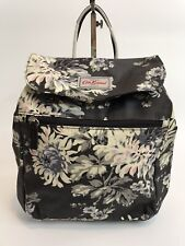 Cath Kidston Backpack Oilcloth - York Flowers - Deep Charcoal - RRP £50 -BNWT