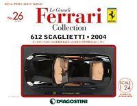 Die Cast Model 1/24 612 Scaglietti 2004 Ferrari Collection No.26 F/S w/Tracking#