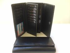 Womens Wallet Genuine Leather Wallet w/18 Credit Cards Holder - Black  AE-20