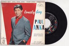 EP PAUL ANKA-LONELY BOY-VEGA-FRENCH