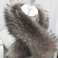 70cm Pelz Kragen Luxuriös Pelzkragen Fell Fur Collar Schal Fellkragen Elegant