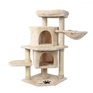 36'' Cat Tree Multi-Level Cat Tower with Sisal Scratching Post for Large Cats