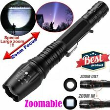 990000LM Super Bright T6 LED Police Tactical Flashlight 5 Modes Zoomable Torch