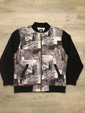 Crooks And Castles Mens Animal Fur Art Varsity Jacket Sz XL Jesus Piece Zipper