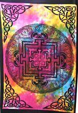 Vastu Yantra Wall Hanging Cotton Tapestry Poster Multi Color Indian Handmade Art