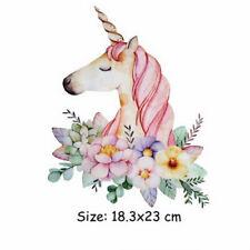 Cartoon Unicorn Clothing Patch Dresses Sweater Washable Heat Transfer M&O