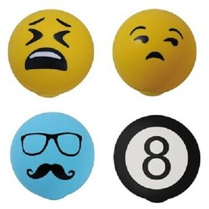 4/Pack Buxton Emoji Face Stress Ball / Squeeze Ball