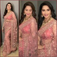 Gorgeous Saree Designer Net Floral Work Bollywood Party Wear Women Sari NSR -151
