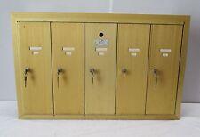 Vintage Five (5) Unit Apartment Mailbox - Gold Anodized Aluminum (#17)