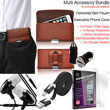 Quality Horizontal Belt Pouch Phone Protection Case Cover✔Accessory Pack✔Brown