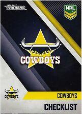2017 NRL Traders Base Card (081) COWBOYS Check List