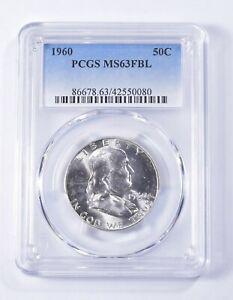1960 FBL MS63 Franklin Half Dollar - 90% SILVER - PCGS Graded *269