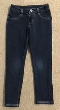 Sonoma Girls Jegging Legging Cotton Pants size 5 Dark Blue Wash