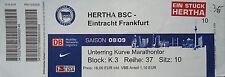 TICKET 2008/09 Hertha BSC Berlin - Eintracht Frankfurt