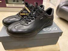 NWB ECCO Diego Gore-Tex Black 100% Leather Sneakers Size 10-10,5US 44EU