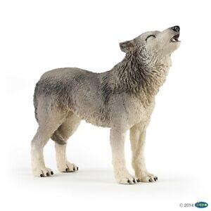 50171 Papo Howling Wolf Toy Animal Wildlife/Zoo Figure