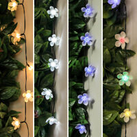 5-10m Solar Power Outdoor LED Fairy Lights | Flower Blossom Garden Decoration