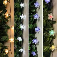 5-10m Solar Power Outdoor LED Fairy Lights | Flower Blossom Garden Decoration
