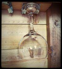 🍹6x METAL WINE GLASS HOLDERS  Bar Beer / Gin / Hanging Rack under counter pub🍹