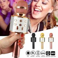 Wireless Bluetooth Karaoke Microphone Handheld Mic Speaker Home KTV Player USB