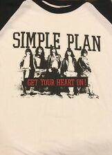 Simple Plan Get Your Heart On Baseball Raglan 3/4 T-Shirt Lrg