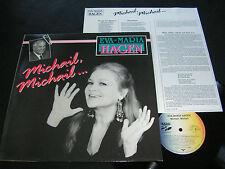 EVA-MARIA HAGEN Michail, Michail.../ German LP 1989 EXTRA RECORDS 5723041 2 AL