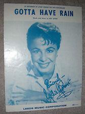 1958 GOTTA HAVE RAIN Vintage Sheet Music EYDIE GORME by Roy Irwin
