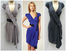 Jersey V-Neck Draped Dresses for Women