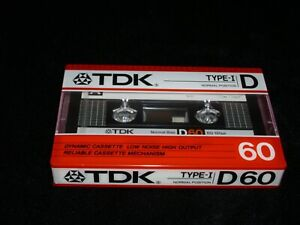 TDK D60,Audio Cassette1986,Excellent condition for collection,quality from Japan