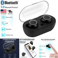 True Wireless Earbuds Bluetooth Headphones In-Ear Stereo Headset Sport Earphones