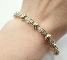 9ct Gold Diamond Bracelet  - 11.9 grams - 0.50ct Diamonds