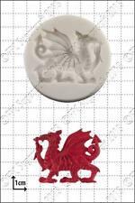 Molde de silicona Dragón gales Comida uso FPC Pasta de azúcar