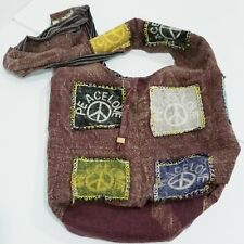 Peace & Love Hippie over the shoulder Handbag preowned