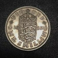 1965 One Shilling Coin Queen Elizabeth II English Reverse