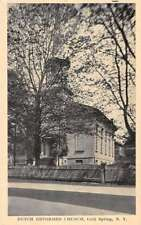 Cold Spring New York Dutch Reformed Church Street View Antique Postcard K82064
