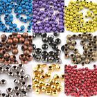 Wholesale 20/50/100PCS Metal Loose Spacer Round Beads Jewelry Making 3/4/5/6/8mm