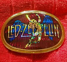 Led Zeppelin Pacifica 1978 Belt Buckle Vintage Reflective Hologram Swan Song