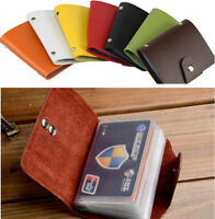 12 Card Men Women ID Credit Card Holder Purse Wallet PU Leather Pocket Case