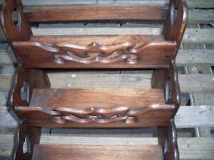 Teak Wooden Spice Rack 3 Tier Dark Brown UK Dispatch New Handmade Fairtrade
