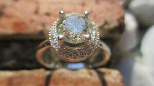 Fancy Light Yellow Natural Diamond White Gold Ring
